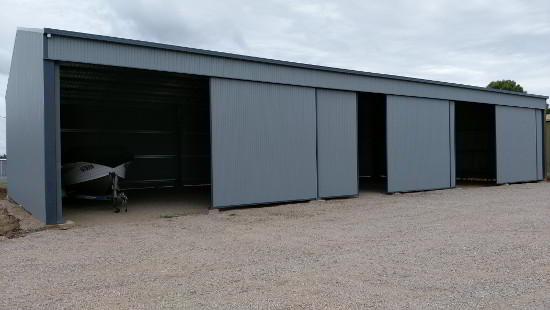 Large Storage Shed with Sliding doors